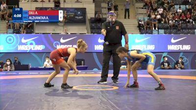 43 kg Final 3-5 - Angelina Marie Dill, United States vs Aida Alzhanova, Kazakhstan