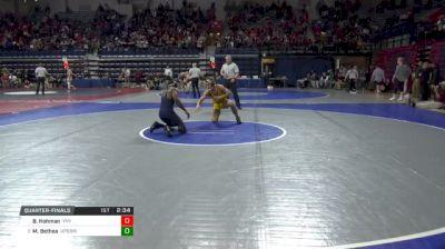 165 lbs Quarterfinal - Blake Hohman, Virginia Military Institute vs Maaziah Bethea, Univ Of Pennsylvania
