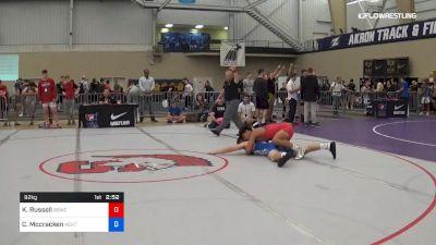 92 kg 5th Place - Kaden Russell, Blue Blood Wrestling Club vs Colin Mccracken, Kent State