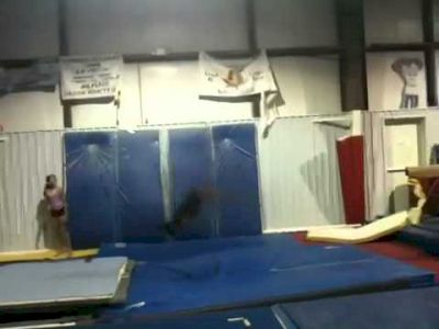 Simone Biles Training Double Lay, Full Out in 2011