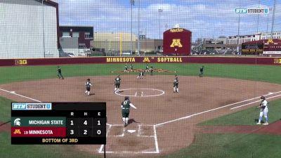 Full Replay - 2019 Michigan State vs Minnesota | Big Ten Women's Softball - Michigan State vs Minnesota | Softball - Apr 14, 2019 at 12:56 PM EDT
