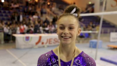 Grace McCallum on sticking her DTY in event finals - 2018 City of Jesolo Trophy