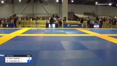 NADER RIAD TANNIR vs MARK L WILSON JR 2021 American National IBJJF Jiu-Jitsu Championship