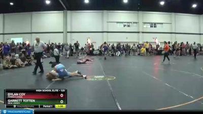 125 lbs Champ. Round 3 - Garrett Totten, New Jersey vs Dylan Coy, Pennsylvania