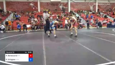 92 kg Prelims - Nino Bonaccorsi, Pittsburgh Wrestling Club vs Robert Striggow, Cliff Keen Wrestling Club