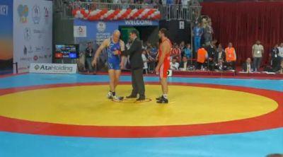 84 lbs round2 Cael Sanderson USA vs. Sharif Sharifov AZE