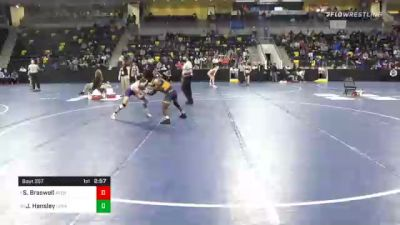 125 lbs Quarterfinal - Samuel Braswell, Averett University vs Jared Hensley, Loras College