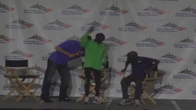 Bernard Kipyego and Wesley Korir after Chicago Maraton 2011