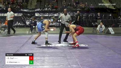 141 lbs Consolation - Doug Zapf, Penn vs Zach Sherman, North Carolina