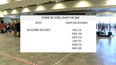 2017 Strongman Nationals Middleweight Men's Stone Over Bar