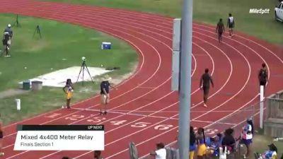 High School Mixed 4x400m Relay, Finals 1