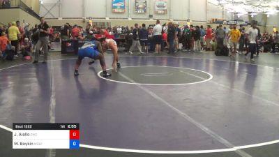 97 kg Semifinal - Jonathan Aiello, Cavalier Wrestling Club vs Michael Boykin, Wolfpack Wrestling Club
