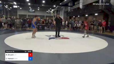 70 kg Prelims - Manzona Bryant, Lehigh Valley Wrestling Club vs Caleb Henson, Georgia
