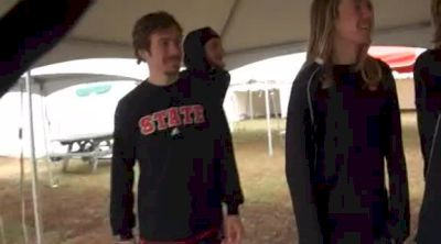 NC State with Ryan Hill and company rockin facial hair before NCAA XC 2011