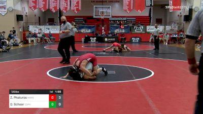 120 lbs Final - Zander Phaturos, Waynesburg vs Dallas Schoor, Central Dauphin