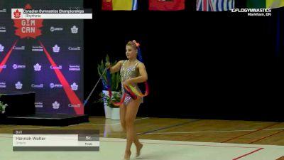 Hannah Walter - Ball, Ontario - 2019 Canadian Gymnastics Championships - Rhythmic