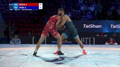97 kg 1/8 Final - Yevhenii Saveta, Ukraine vs Alex Szoke, Hungary