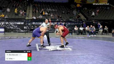 285 lbs Consolation - Yaraslau Slavikouski, Harvard vs Carter Isley, Northern Iowa