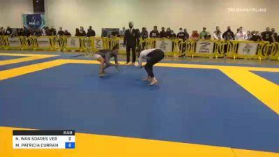 NATHALIE WAN SOARES VERAS RIBEIR vs MEAGAN PATRICIA CURRAN 2020 IBJJF Pan No-Gi Championship