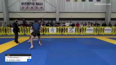 Jacob H Bornemann vs Michael Anthony Halle 2021 Pan IBJJF Jiu-Jitsu No-Gi Championship