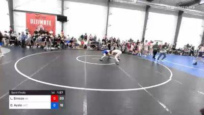 57 kg Semifinal - Luke Simcox, M2 Magicians vs Drake Ayala, Sebolt Wrestling Academy