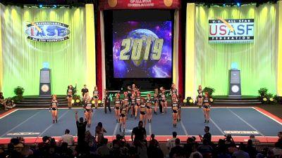 The California All Stars - Livermore - Black Ops [2019 L5 Senior Medium Coed Finals] 2019 The Cheerleading Worlds