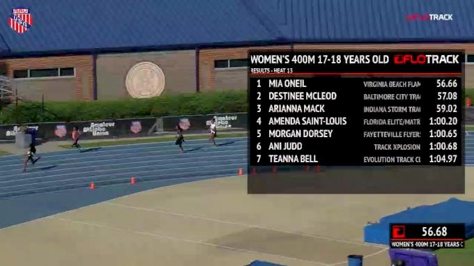 Girls' 400m, Prelims 14 - Age 17-18