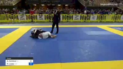 Alejandro Cordova vs Roberto Lopez 2021 Pan Kids Jiu-Jitsu IBJJF Championship