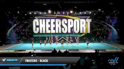 Twisters - Black [2021 L2 Youth - Small - A Day 2] 2021 CHEERSPORT National Cheerleading Championship