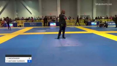 JEFF MACATANGAY vs FRANK ANTHONY CURRIERI FORZA 2021 American National IBJJF Jiu-Jitsu Championship