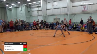 110 lbs Consi Of 8 #2 - Jonathan Hardy, JU vs Robert Howard, WA