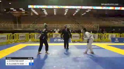 ROMANA ELIZABETH SIDHU vs JOANNA CHRISTINE SCOTT 2020 World Master IBJJF Jiu-Jitsu Championship