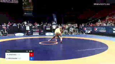 55 kg Final - Amanda Martinez, Cardinal Wrestling Club vs Jacarra Winchester, Titan Mercury Wrestling Club
