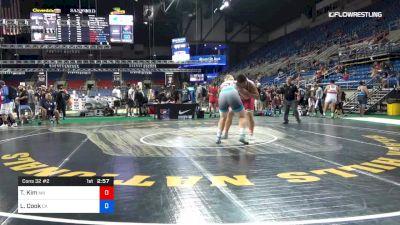 285 lbs Cons 32 #2 - Tyler Kim, Minnesota vs Lucas Cook, California