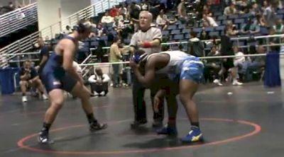 220 lbs semi-finals Desmond James Camden County GA vs. Carter Shipley Lake Highland Prep