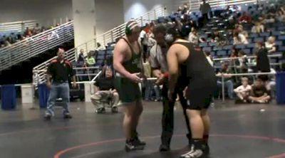 285 lbs semi-finals Zach Carmin Collins Hill Ga vs. Alan Castilo Sarasota