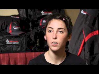 Abbey Leonardi before Foot Locker Championships 2011