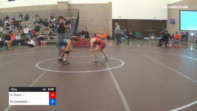50 kg Consolation - Nina Pham, Team Texas vs Mckayla Campbell, Team Kentucky
