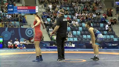 61 kg Repechage #2 - Alesia Marcelic, Croatia vs Ulmeken Esenbaeva, Uzbekistan
