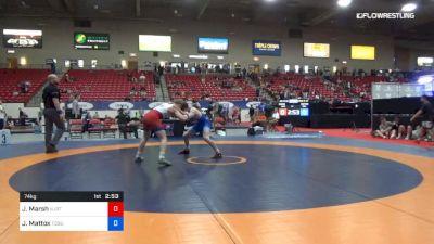 74 kg Cons 16 #2 - Jacob Marsh, NJRTC vs Jaden Mattox, Ohio State-Unattached