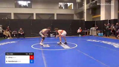 74 kg Prelims - Clayton Ulrey, Southeast Regional Training Center, Inc vs Brady Henderson, Iowa