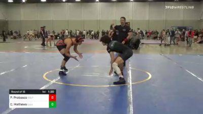 157 lbs Round Of 16 - Pierce Probasco, South Central Punishers vs Cyrus Mathews, Culver Mat Club