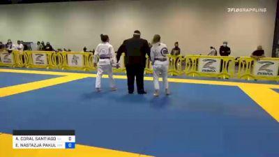 ALANIS CORAL SANTIAGO BETANCOURT vs EMILIA NASTAZJA PAKULSKI 2020 Atlanta International Open IBJJF Jiu-Jitsu Championship