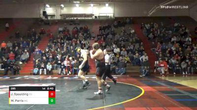 285 lbs Jon Spaulding, Edinboro vs Mason Parris, Michigan