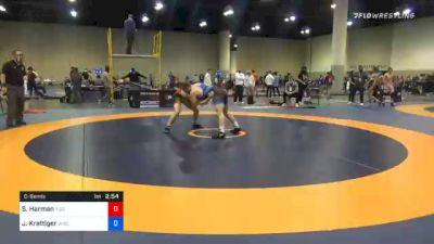 79 kg Consolation - Sean Harman, Tiger Style Wrestling Club vs Jared Krattiger, Wisconsin RTC