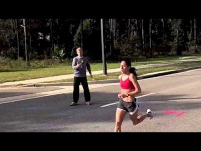 Desiree Davila of Hansons-Brooks runs 3 by 3 miles training for Olympic Marathon Trials