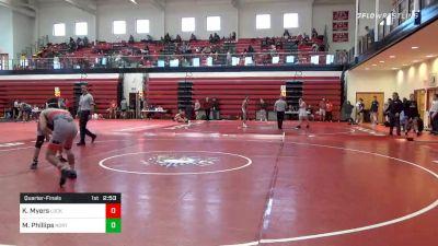 149 lbs Quarterfinal - Kollin Myers, Lock Haven vs Mason Phillips, North Carolina