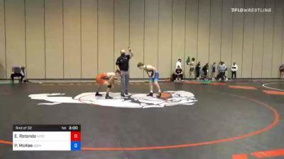 57 kg Prelims - Ethan Rotondo, Wisconsin Regional Training Center vs Patrick McKee, Gopher Wrestling Club - RTC