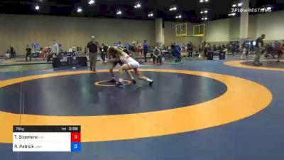 79 kg Consolation - Trey Sizemore, Illinois Regional Training Center/Illini WC vs Robert Patrick, Cavalier Wrestling Club