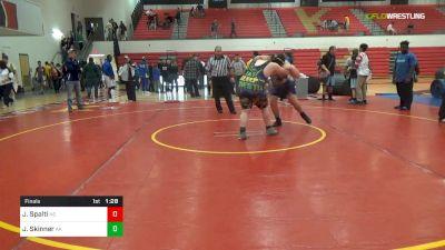 285 lbs Final - Jared Spalti, NS vs Joshua Skinner, AA
